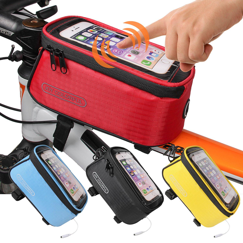 Joy Bunte Fahrrad Taschen Fahrrad Front Tube Rahmen Radfahren Pakete 10,7 cm Touchscreen Handy Taschen Professionelle Fahrrad Accessoires