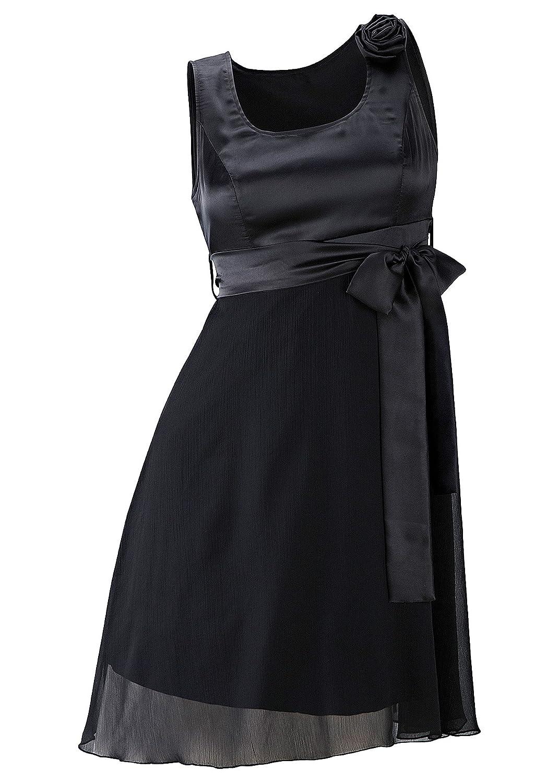 Body Flirt - Vestido - Falda con Peto - Sin Mangas - para Mujer Negro 38: Amazon.es: Ropa y accesorios