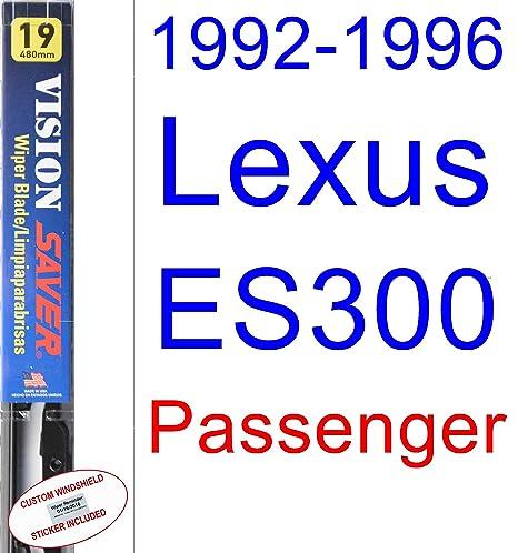 Amazon.com: 1992-1996 Lexus ES300 Wiper Blade (Passenger) (Saver Automotive Products-Vision Saver) (1993,1994,1995): Automotive