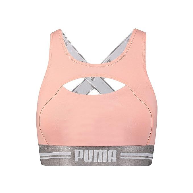 PUMA 583017001-Sujetador Deportivo Mujer Rosa Rosa Claro Small ...