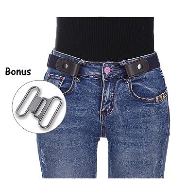 3b04c0cd4659 Kajeer Sans boucle Élastique Invisible Ceinture - Élastique Taille Ceinture  Convient jeans pour quotidiens unisexe Pantalon