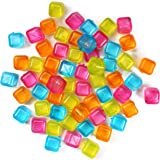 (60-Pack) Reusable Ice Cubes, Plastic Squares for Drinks Like Whiskey, Wine or Beer, To Keep Your Drink Cold Longer…