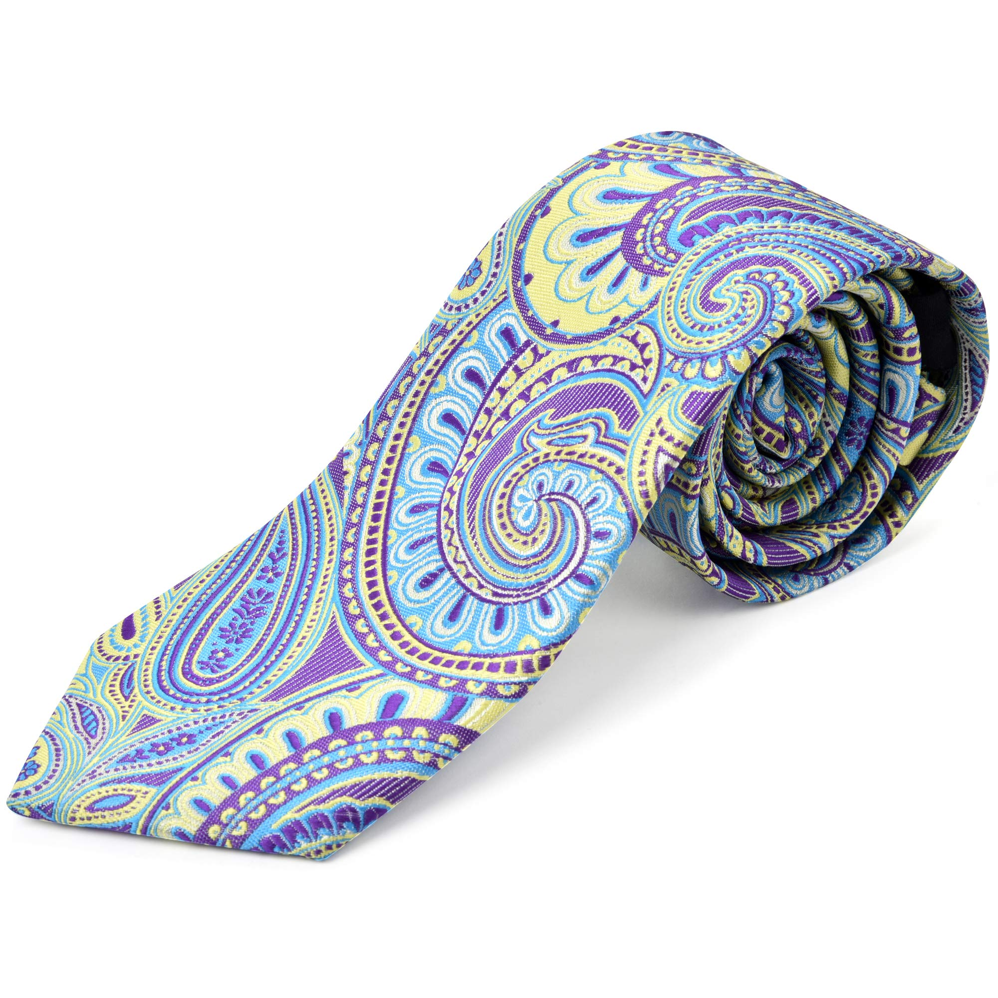 Ike Behar Boys 52'' Purple And Green Pasley Tie