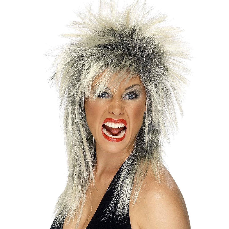 57b31481ca Ginger Adult Ladies 80s Rock Diva Punk Rocker Mullet Wig Fancy Dress  Acccessory  Amazon.co.uk  Toys   Games