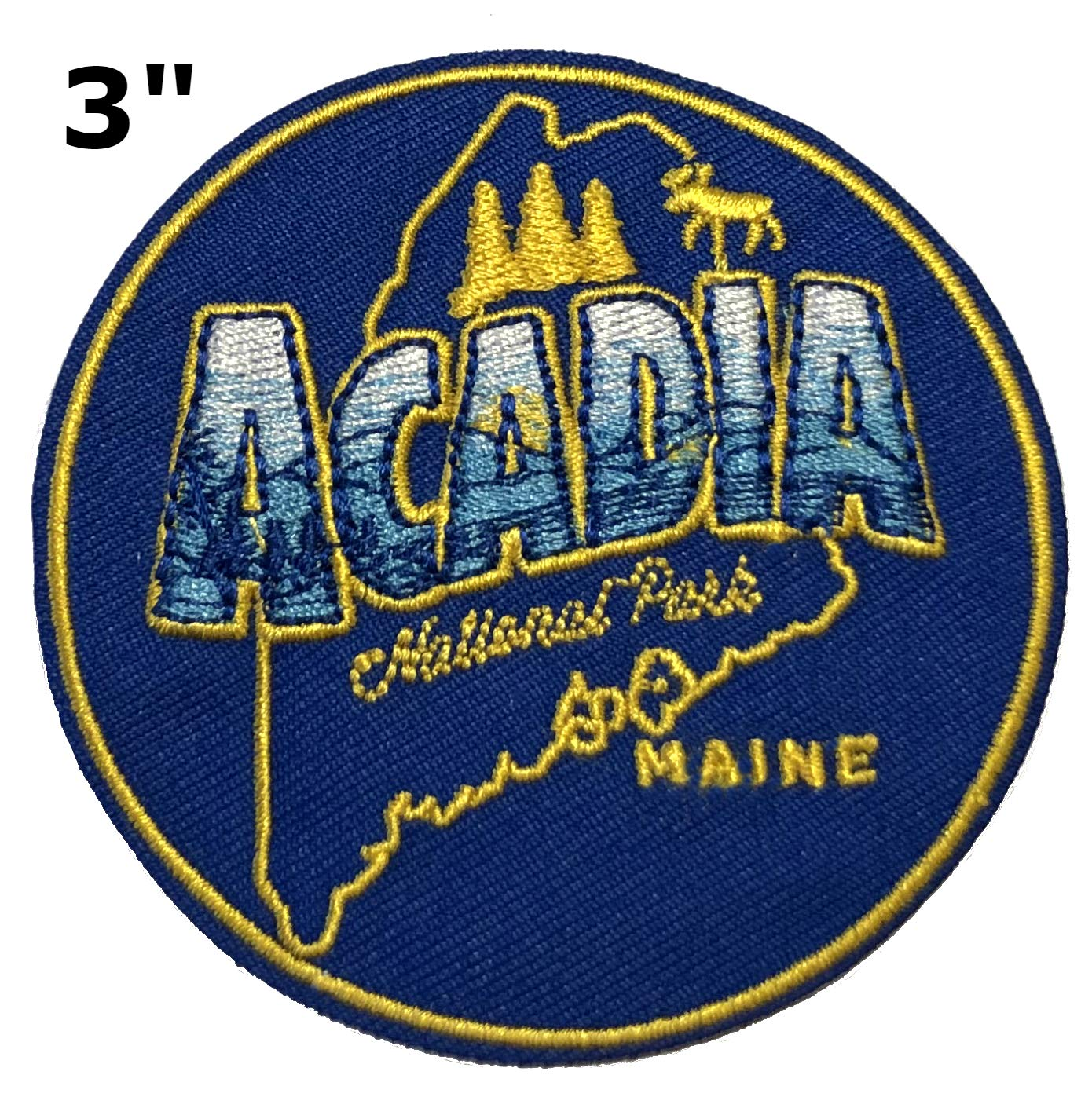 3 Embroidered Patch Iron-on or Sew-on Nature Outdoor Adventure National Park Series Emblem Badge DIY Appliques Application Fabric Patches Explore Redwood