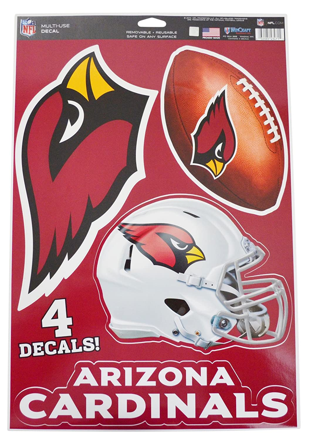 04ae9cc9f Amazon.com   Official National Football League Fan Shop Licensed NFL Shop  Multi-use Decals (Arizona Cardinals)   Sports   Outdoors