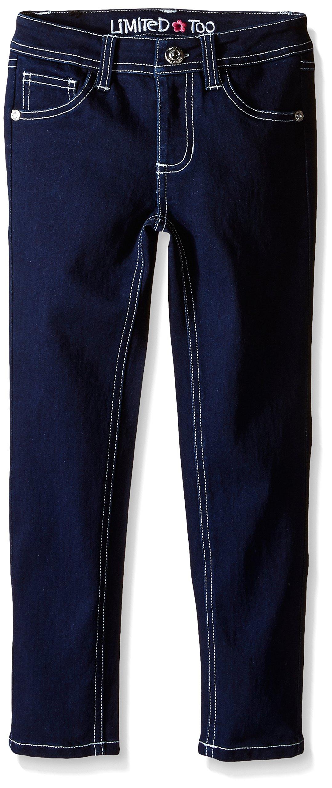 Limited Too Big Girls' Stretch Denim Jean, Dark Wash, 10 by Limited Too