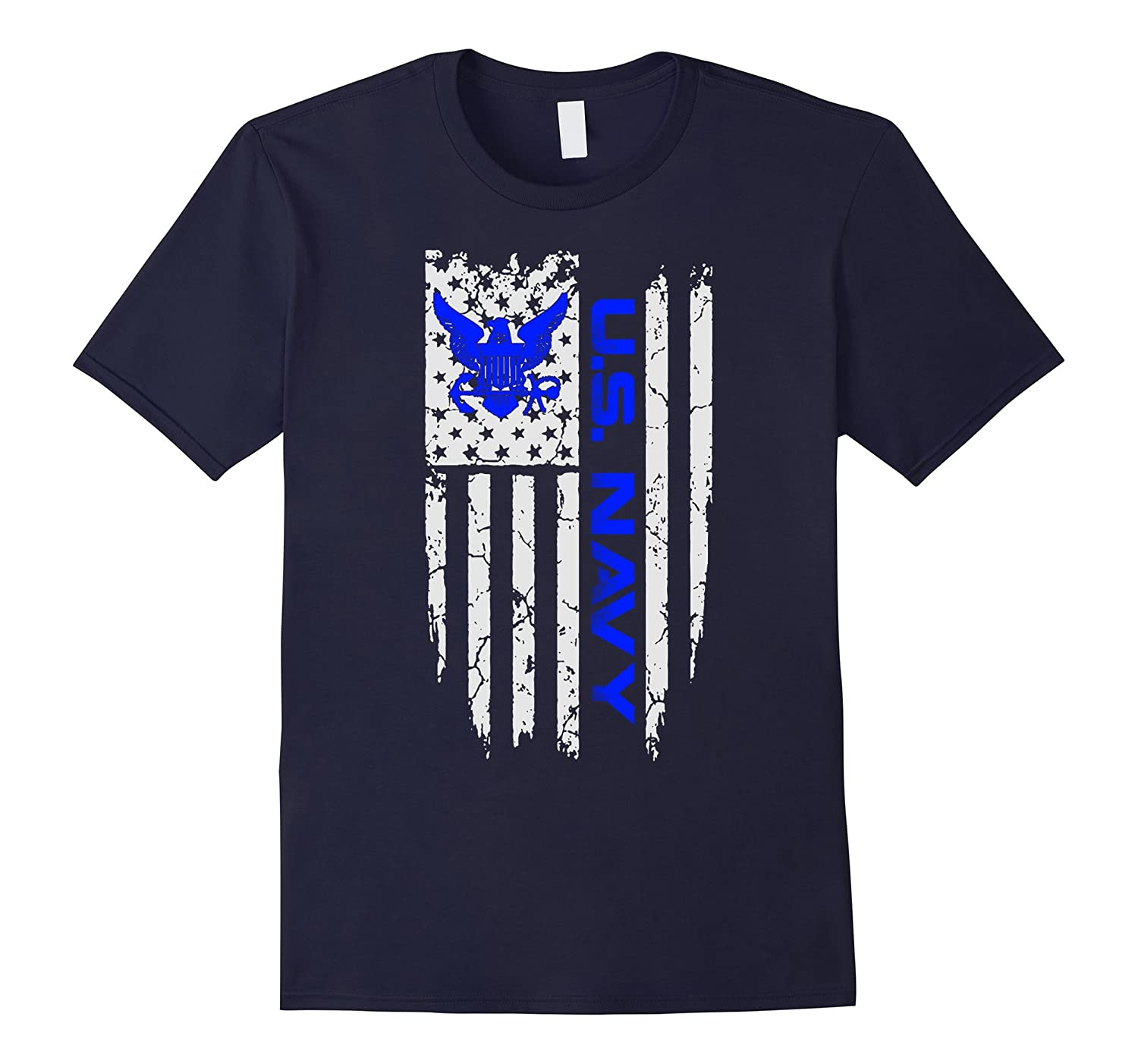 US NAVY AMERICAN FLAG SHIRT-Vaci