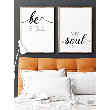 Be Still, My Soul, UNFRAMED 24 x 36 Large Print Inch, Minimalist Art, Typography Art, Yoga Wall Art, Relaxation Gifts, Home Wall Art, Poster