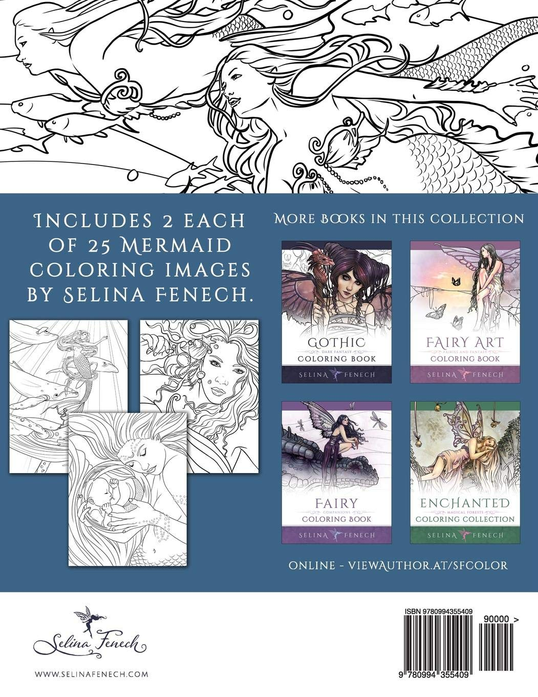 Mermaids Calm Ocean Coloring Collection Fantasy Coloring By