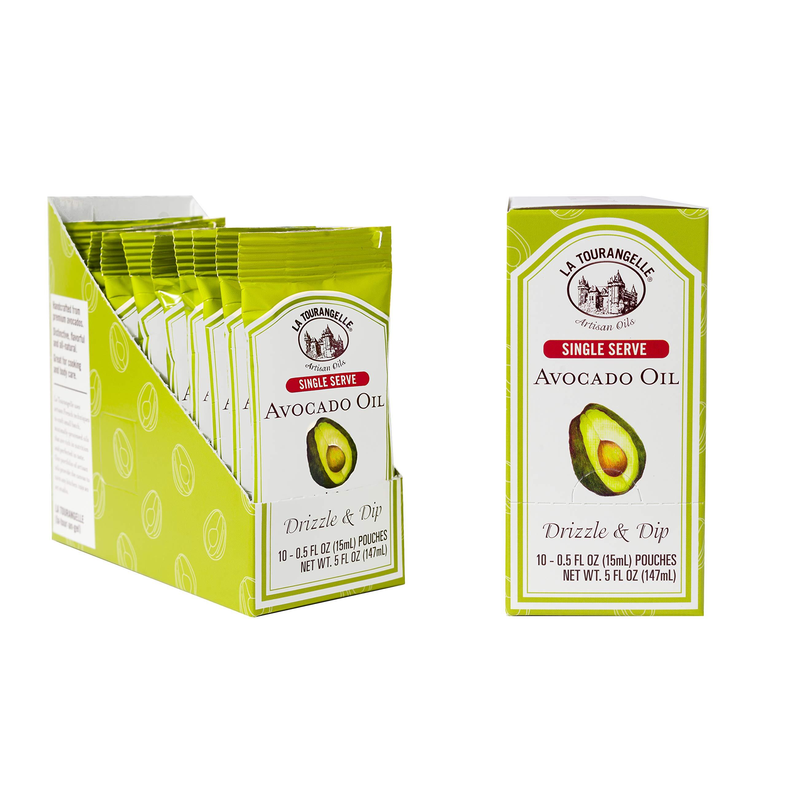 La Tourangelle Avocado Oil Pouches, 0.5 fl. oz., 3-Carton Pack (30 pouches), Convenient Single Serve, Travel Size Oil Packets for On-the-Go, 30 Count by La Tourangelle