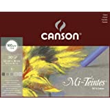 Canson Mi-Teintes 160gsm pastel paper pad, size: 32x41cm, includes 30 sheets of assorted Grey tones