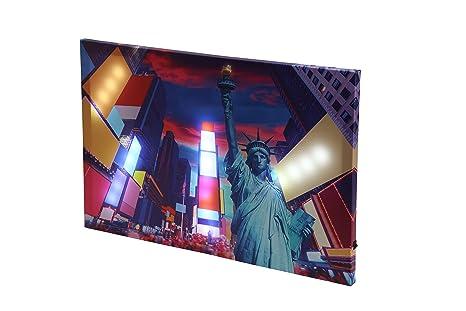 Dapo Led Leinwandbild New York Oder Skyline 3d Wandbild Mit