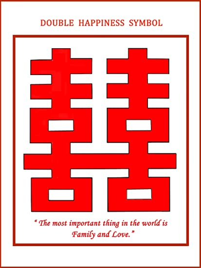 Ratnatraya Feng Shui Chinese Double Happiness Symbol Of Harmonious