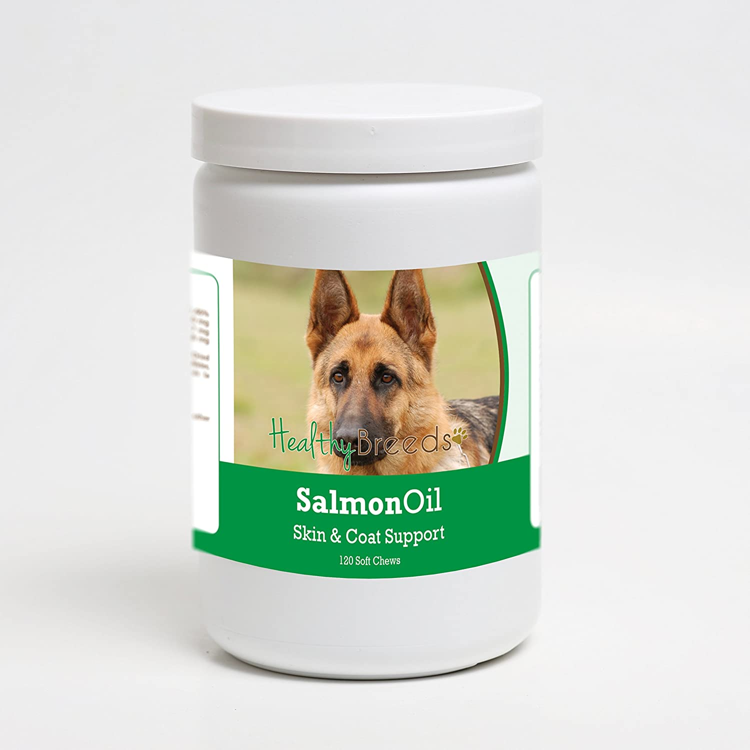 Healthy Breeds Salmon Oil Soft Chew Supplement – Over 200 Breeds – Reduce Shedding and Support Skin Coat – Formulated with Omega 3 6, EPA, DHA – 90 or 120 Tasty Chews