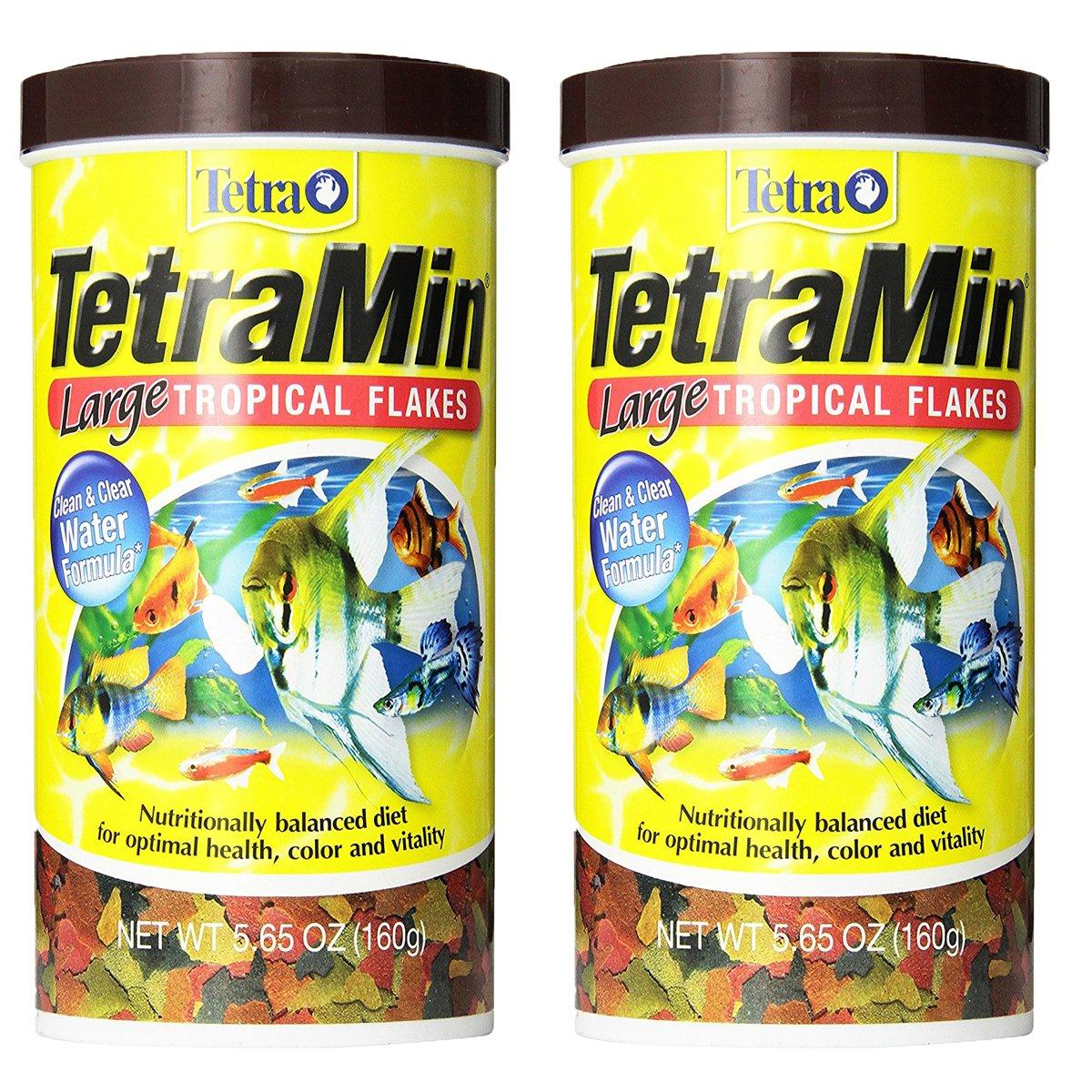 5.65oz-2PK Tetra 16155 TetraMin Large Flakes, 5.65-Ounce, 1-Liter