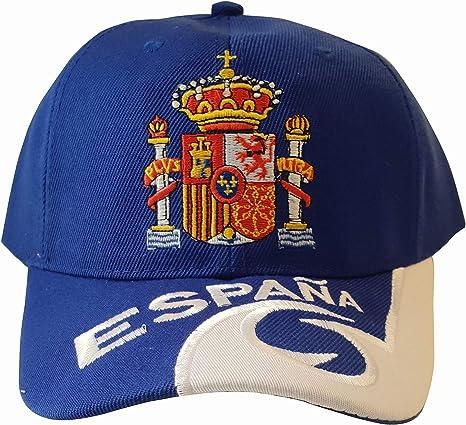Q&J Gorra con Escudo de España Color Azul - Talla Adulto Ajustable ...