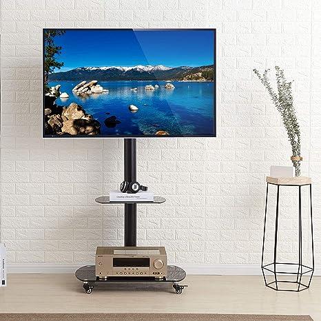 RFIVER TF8001 - Soporte de pie para televisor con estantes y ...
