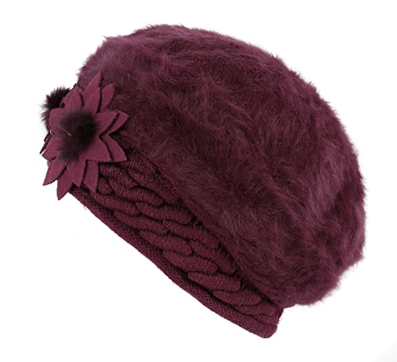 a89c3e8ac5c Amazon.com  Fashion wool hat Women Winter Warm Knit Hat Ski Caps (Red wine)  (0714367284552)  Books