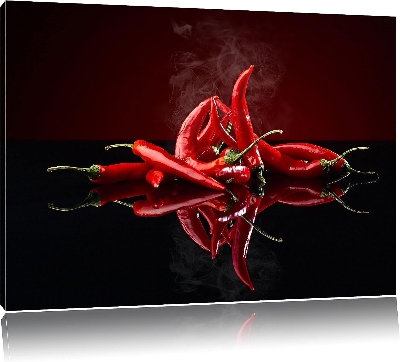 Art Print Taille: 60x40 cm Piment Rouge Ardent Photo sur Toile Peinture Murale pr/êt Couvert