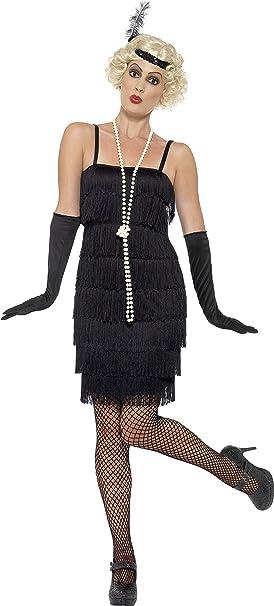Smiffys - Disfraz para Mujer, Flapper, años 20, Negro, S (