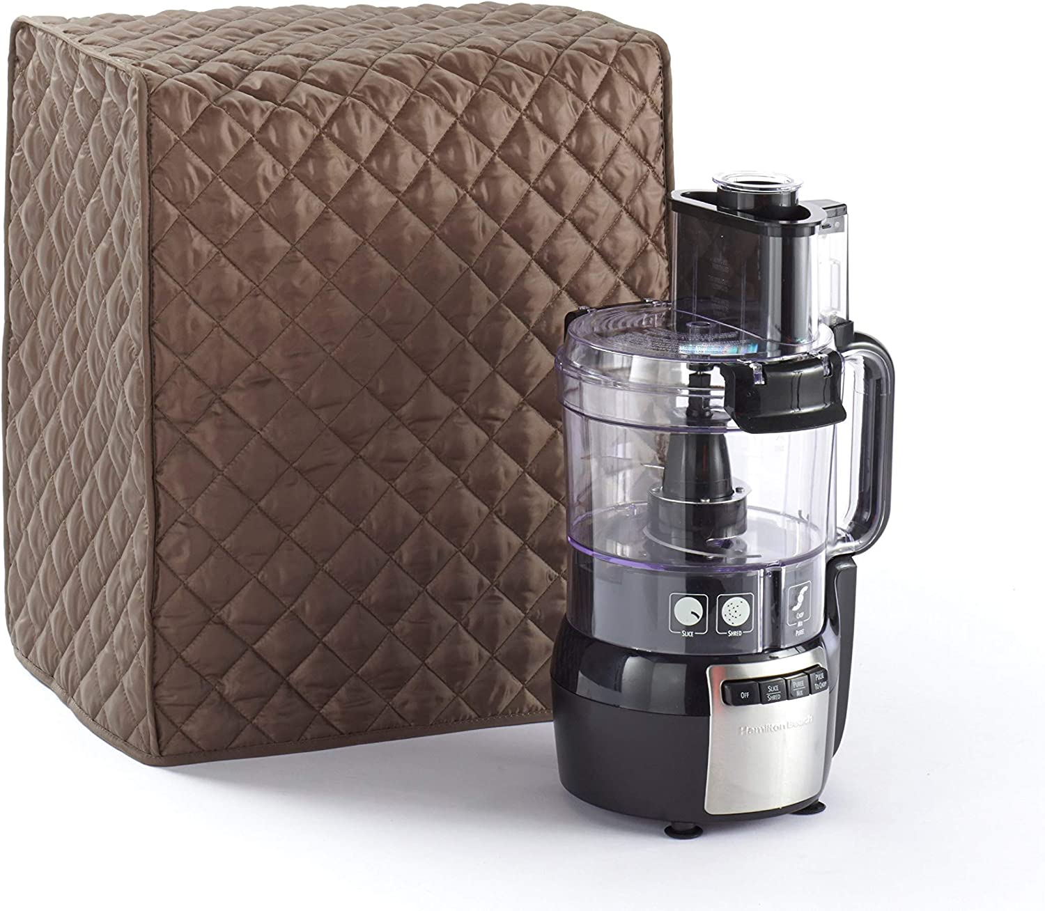 Covermates Food Processor Cover 15W x 11D x 18H Diamond Collection 2 YR Warranty Year Around Protection – Bronze