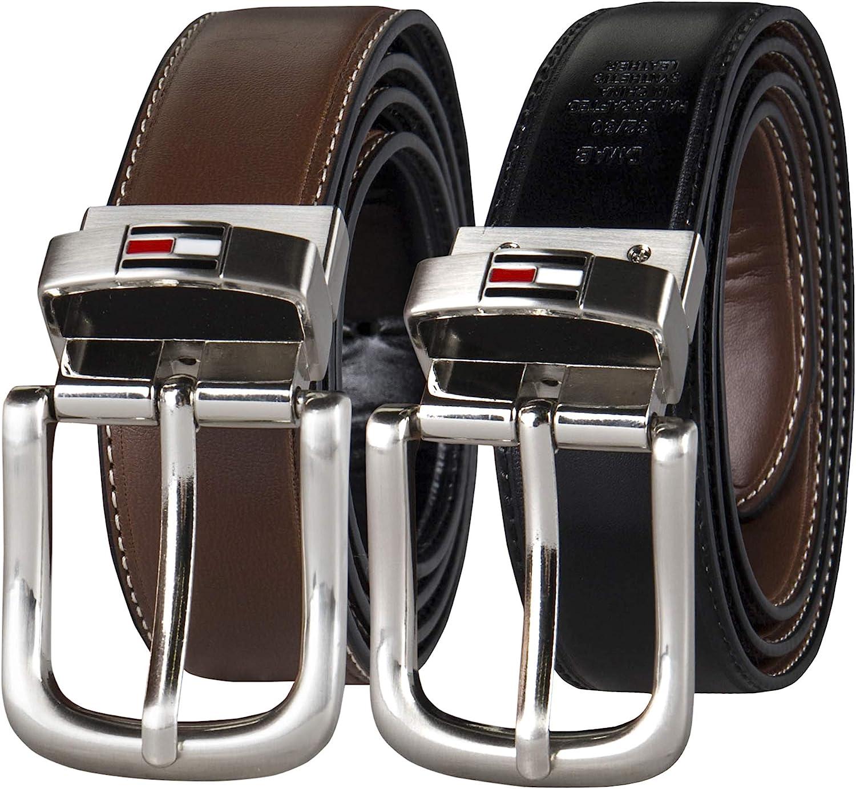 Tommy Hilfiger REVERSIBLE cinturón de piel Para Hombre (con Big & Tall tamaños)