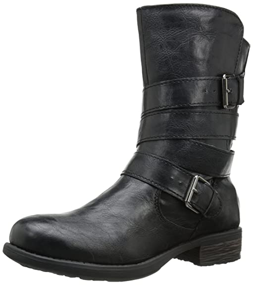 Vegan motorcycle boot for women
