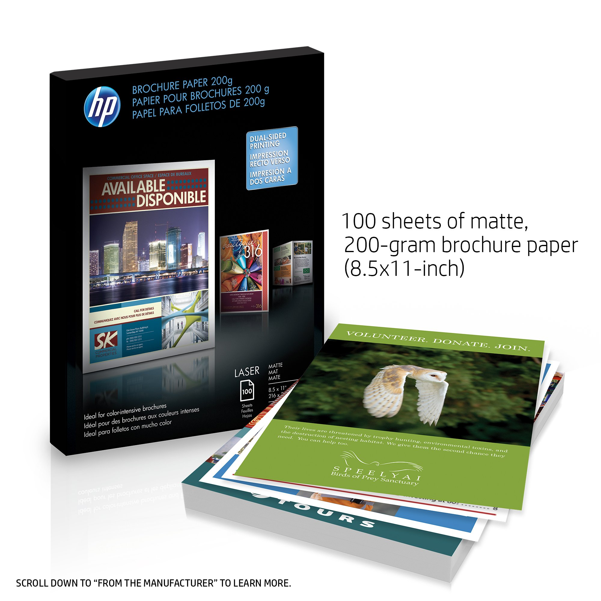 HP Q8824A Brochure Paper for Laser Printer, Matte, 8.5x11, 100 Sheets by HP (Image #2)