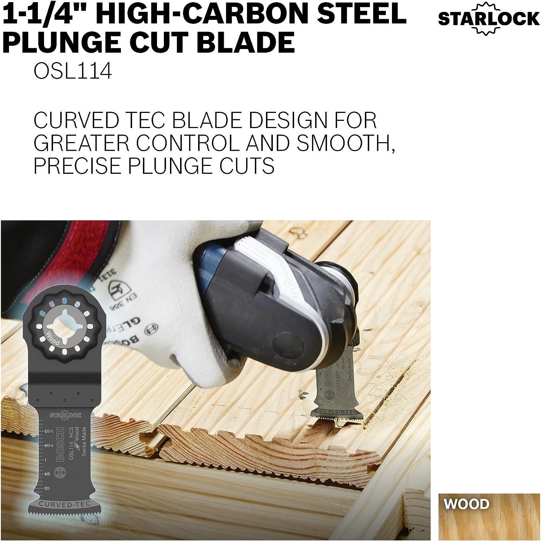 "Bosch OSL114 Starlock High-Carbon Steel Plunge Cut Blade 1-1//4/"""