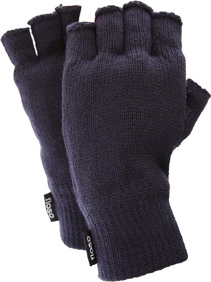 Green Thermal Fingerless Gloves