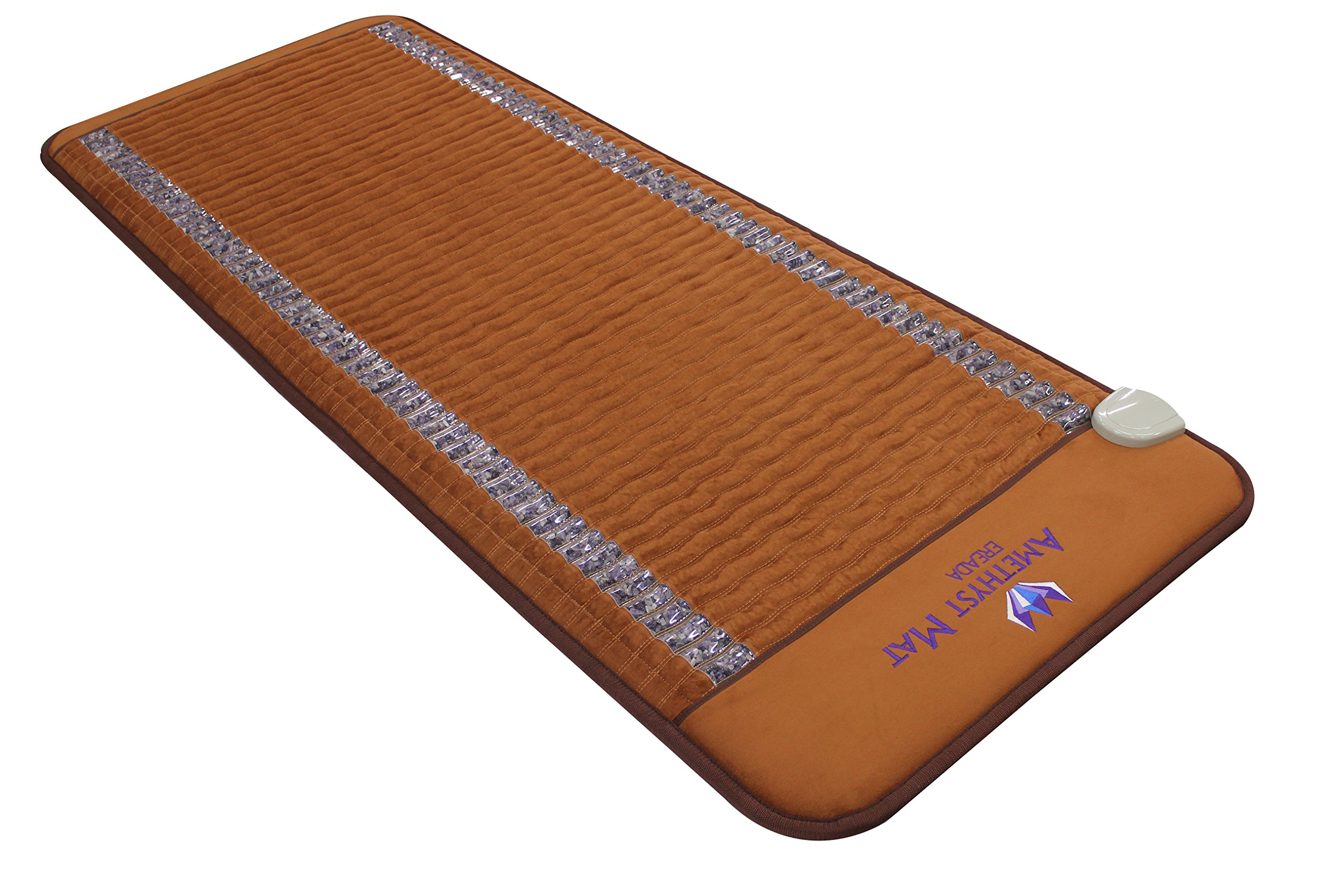 "Far Infrared Amethyst Mat Professional 73''L x 29""W - Made in Korea - Deep Penetration FIR Heat - Ion Therapy - Jewelry Grade Natural Amethyst - FDA Registered Manufacturer - Heating Pad with Crystals by Bio Amethyst"
