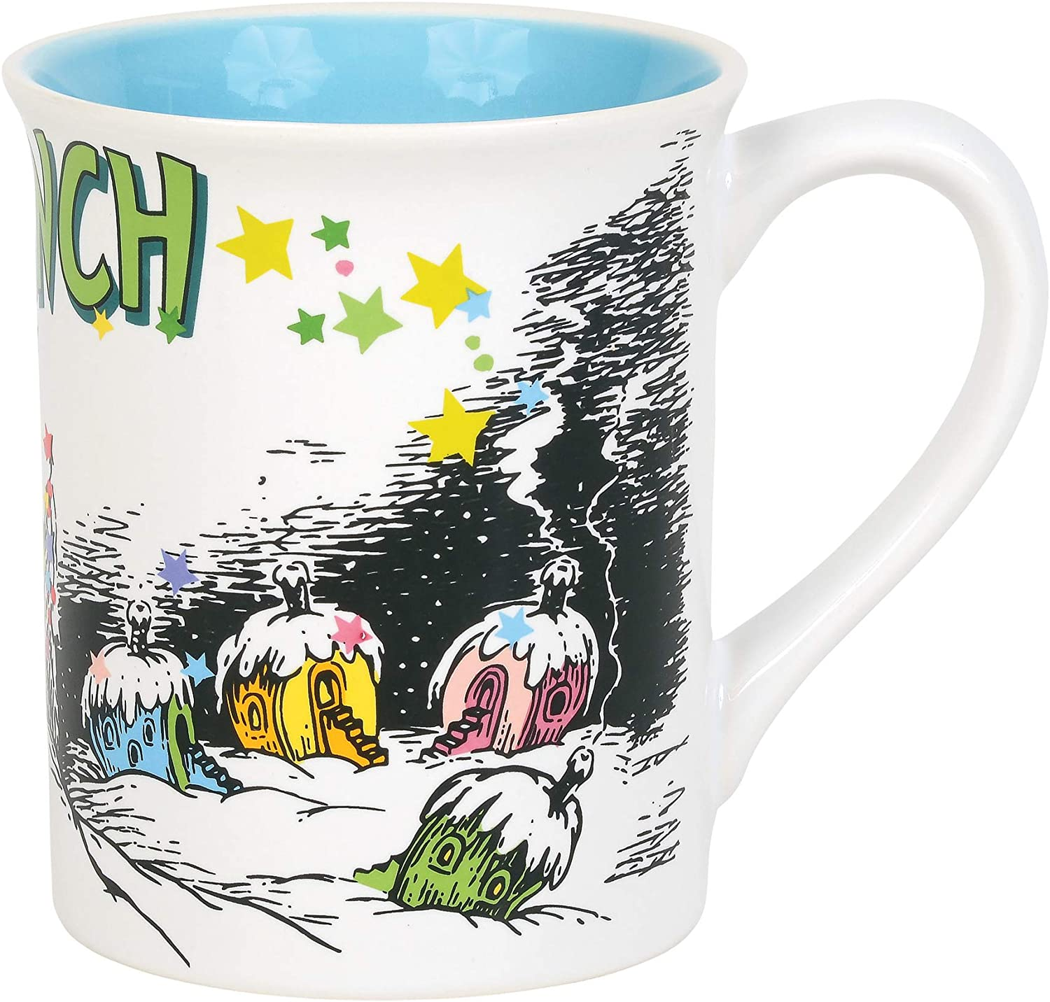 Department 56 The Grinch Whoville Coffee Mug, 16 Ounce, Multicolor