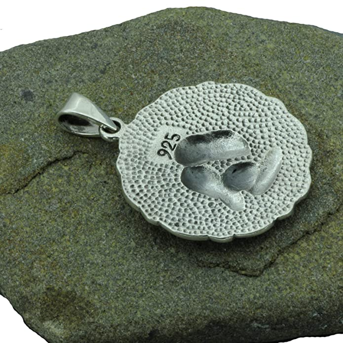 Totenkopf 3D Skull Gothic Tribal MAORI 925 Sterling Silber Anhänger