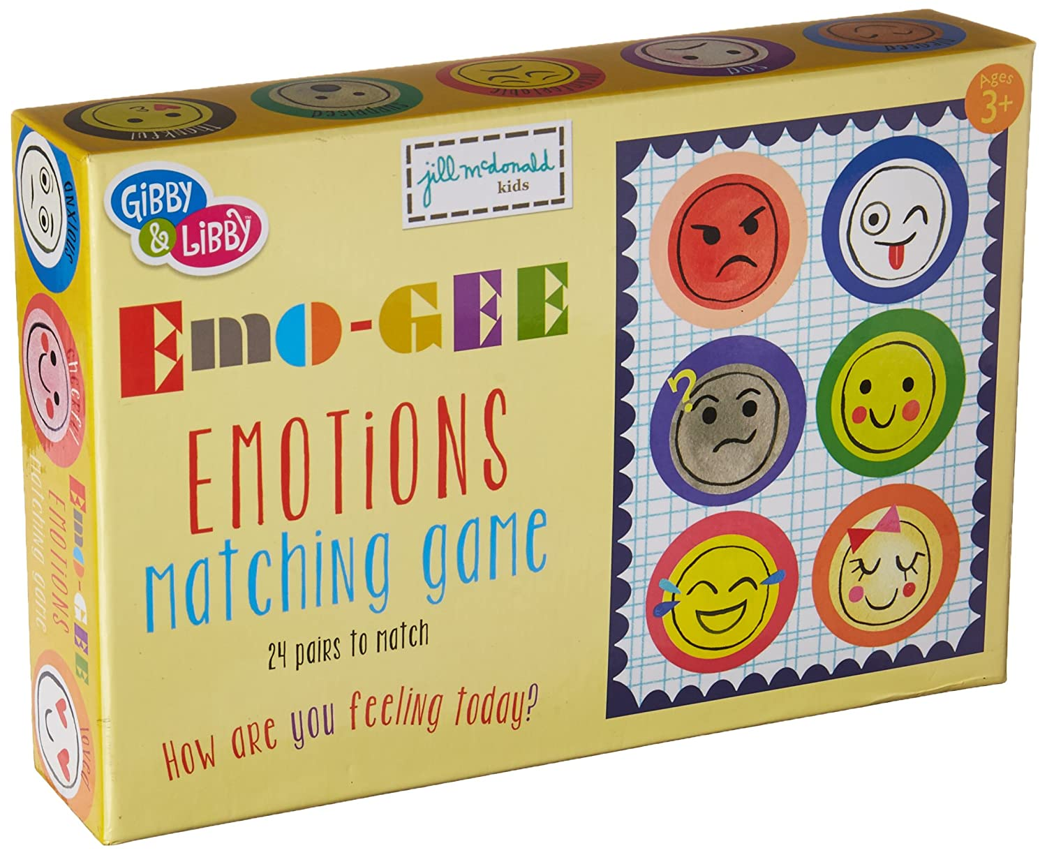 Amazon.com: C.R. Gibson, Emo-Gee Matching Game for Kids, 48pc: Toys & Games