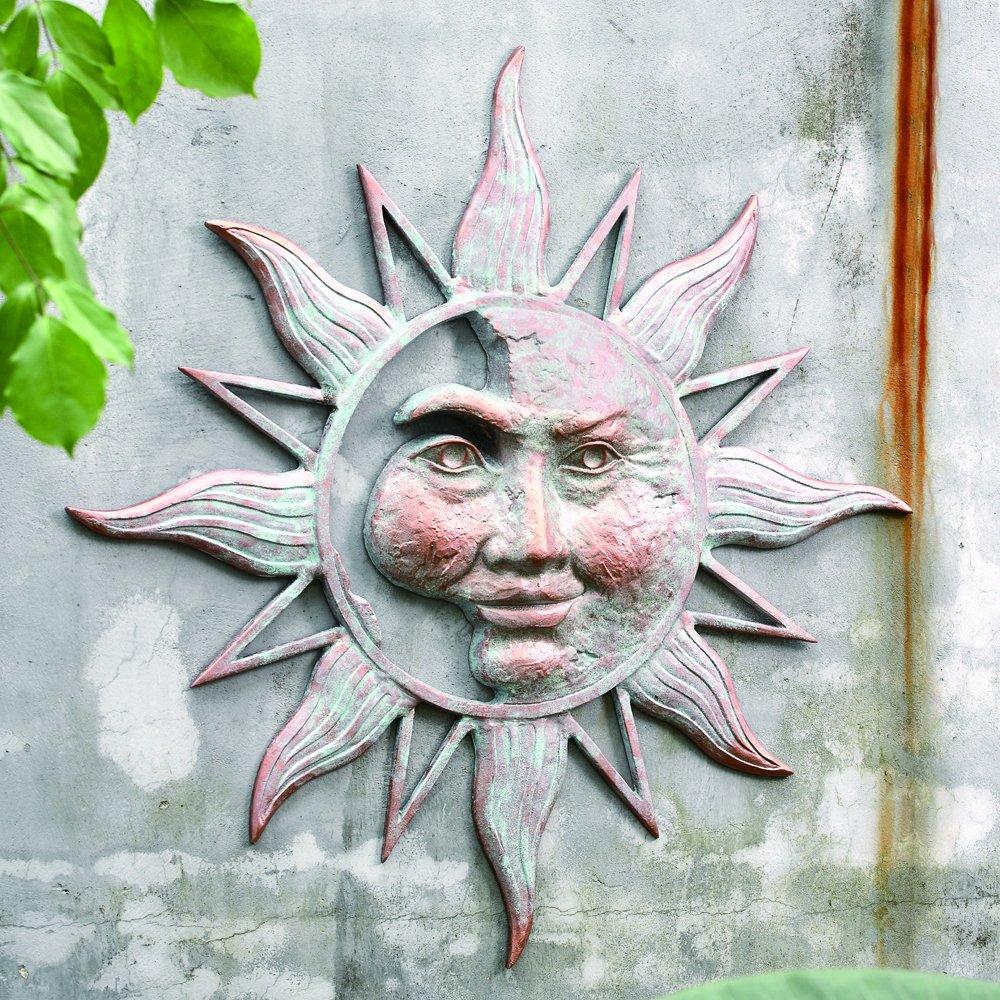 Half Face Sun Garden Wall Plaque 33.5 diam x 3 D in. ブラウン 33163 1  33.5 diam x 3 D in. B005DSEMHG