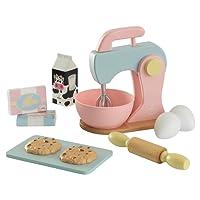 KidKraft 63371 Ensemble Pâtisserie en bois, dînette enfant, jeu d'imitation incluant accessoires en plastique - coloris pastel