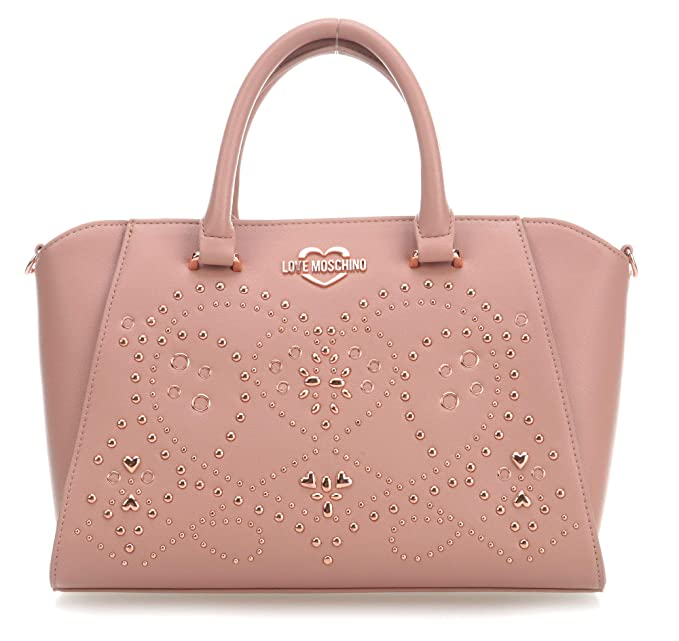 09f09c9a5 Antiguo Love Rosa Embroidery Amazon Mano De Bolso es Moschino Studs xqqawOP0