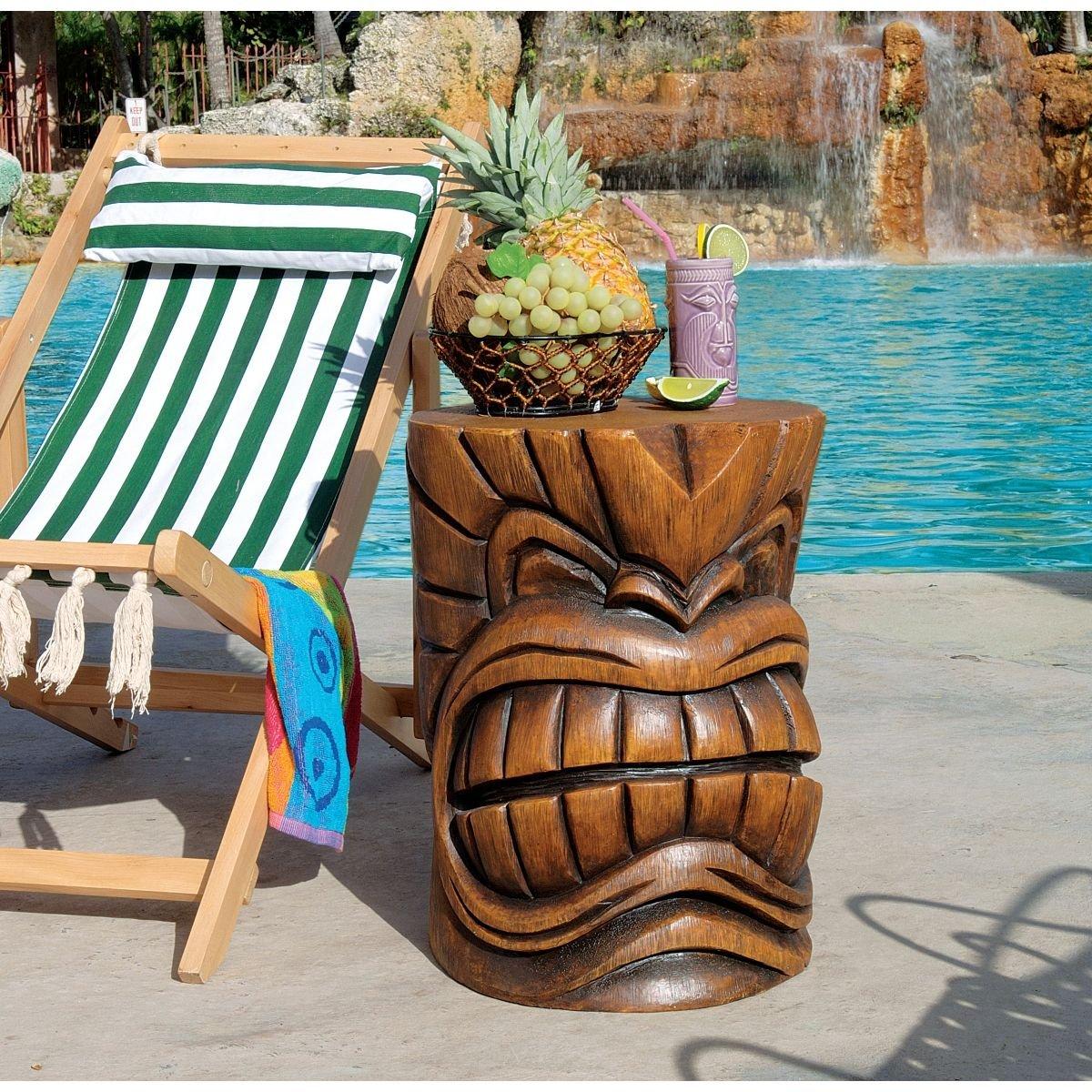 Beautiful Amazon.com : Design Toscano The Kanaloa (Teeth) Grand Tiki Sculptural Table  : Outdoor Statues : Garden U0026 Outdoor