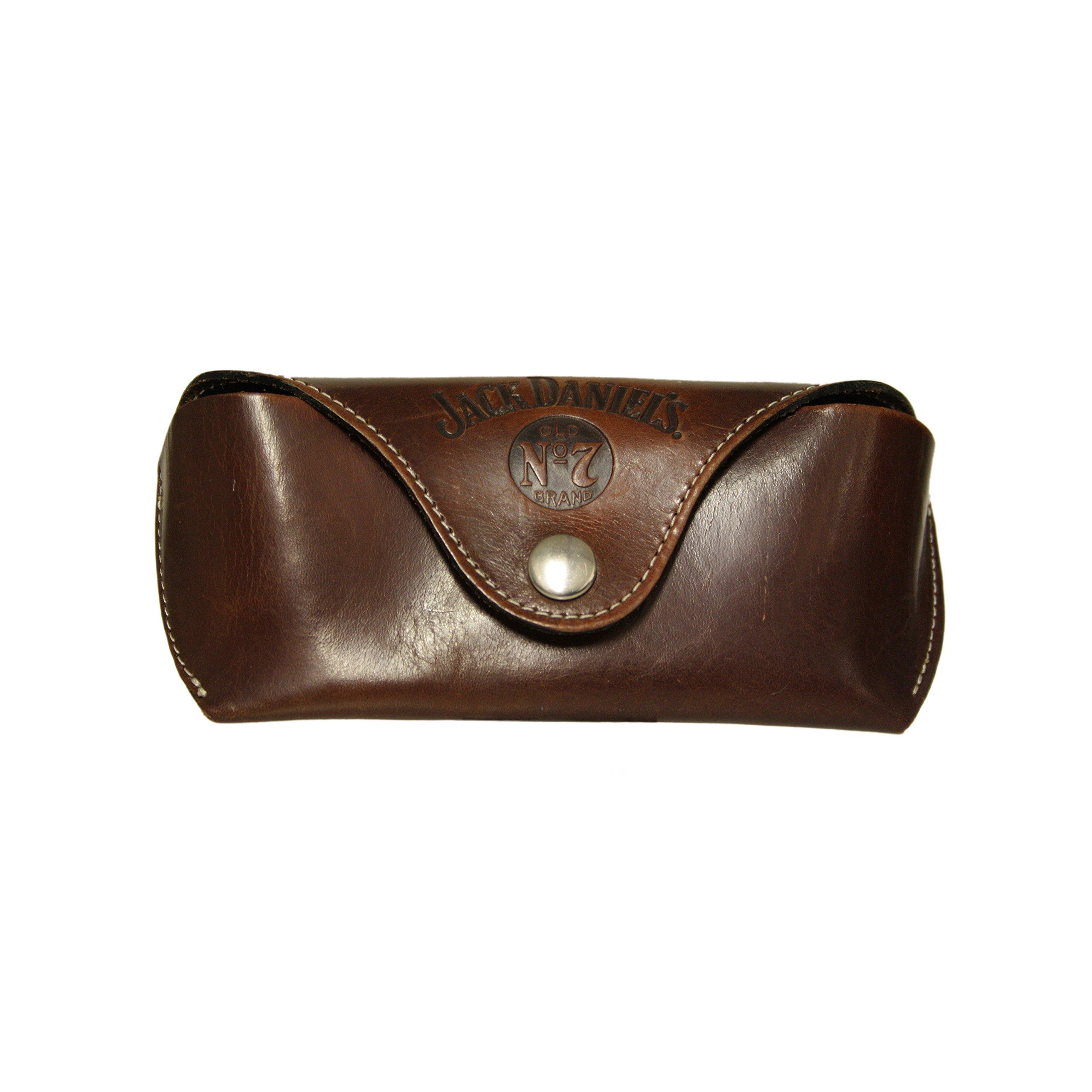 Jack Daniel's Western leather glasses case with belt loop