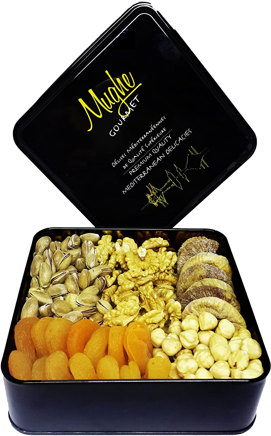 Amazon com : Mughe Gourmet Nut Dried Fruit Gift Basket 1 4lb