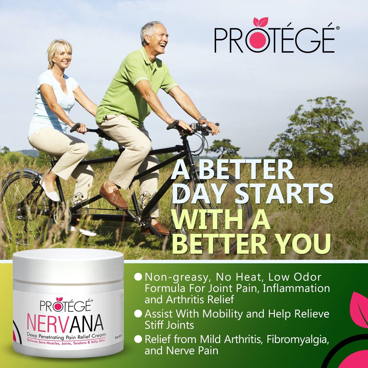 Premium Pain Relief Cream - NERVANA - Best Natural Anti-Inflammatory  Topical Pain Reliever Treatment