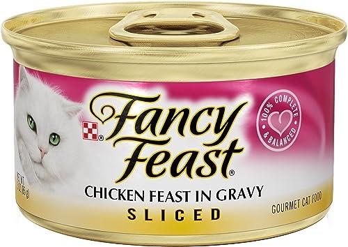 Fancy Feast Sliced Chicken Feast In Gravy Canned Cat Food 24 – 3oz Cans