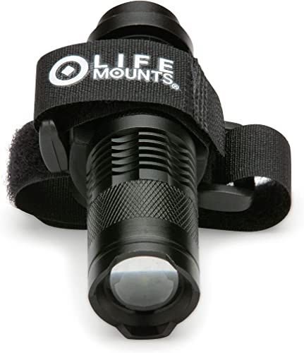 Life Mounts LED Tactical Hunting Vest and Backpack Light with Strap Mount Black