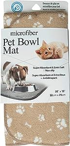 Jacent Microfiber Non-Slip Pet Bowl Mat, 20 x 10 Inches