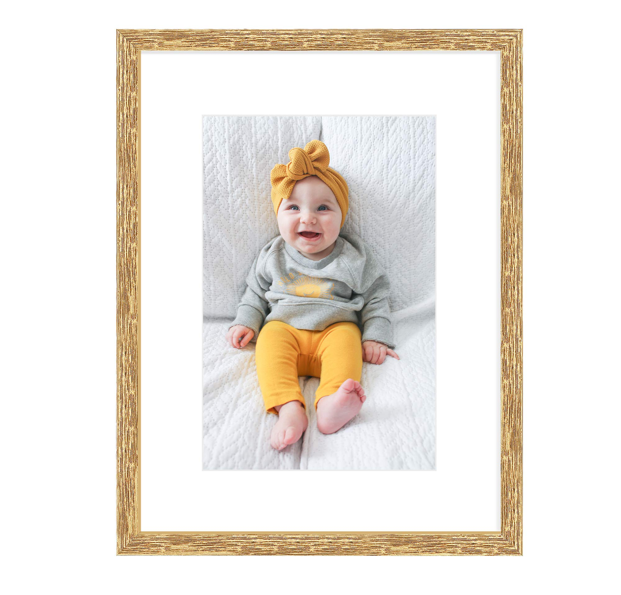 White Mat for 8x12 Pictures ... Golden State Art 12x16 Silver Trim Black Frame