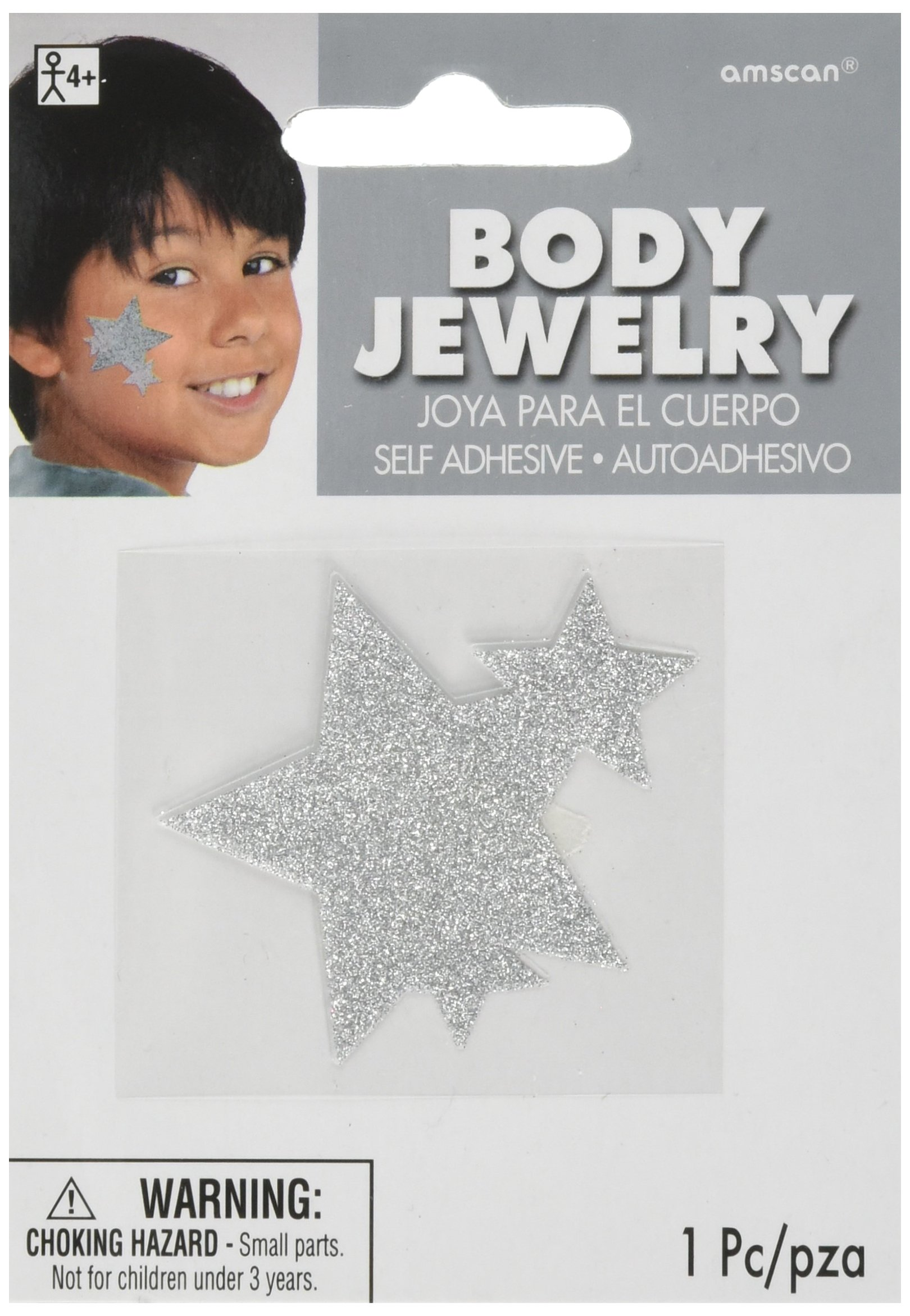 amscan Silver Spirit Body Jewelries, Party Accessory, 24 Ct.