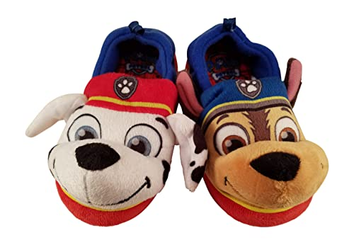d642bb2f8 Paw Patrol Chase and Marshall Slippers for Boys or Girls (Small 5/6)