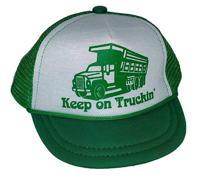 de13efe4b Keep On Truckin' Truck Baby Infant Mesh Trucker Hat Cap Newborn Green  Snapback