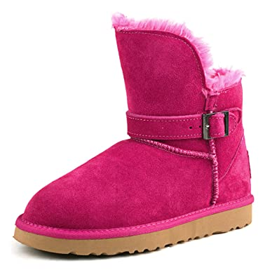 Women's Short Leather Winter Boot 99527